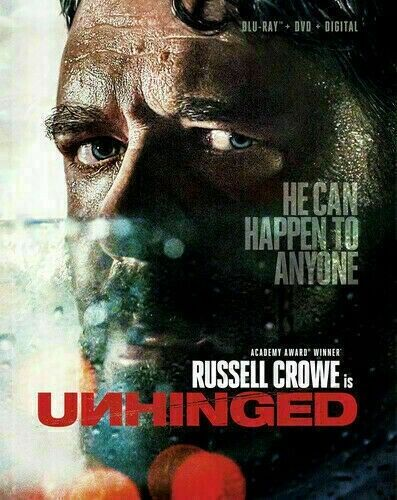 UNHINGED (DVD,2020) >>> NEW<<< Russell Crowe>>>