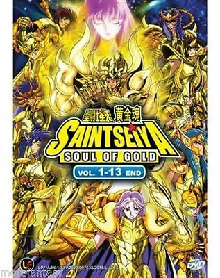 DVD Saint Seiya : Soul Of Gold ( Vol. 1-13 End ) + Free Anime + Free Shipping