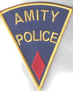 Jaws-Movie-Amity-Police-Logo-Shoulder-Patch-Red-Diamond-NEW-UNUSED
