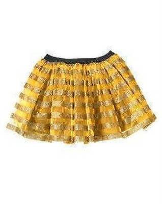 Bumble Bee Tutu (NWT Gymboree Bumble Bee Tutu Shimmery Skirt Costume 5 6 Halloween Dress Up)