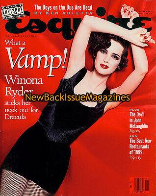 Esquire 11 92 Winona Ryder November 1992 New