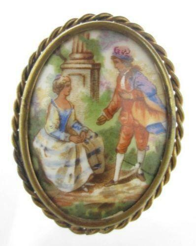 Hand Painted Porcelain Box Marked Made In France Hand Painted