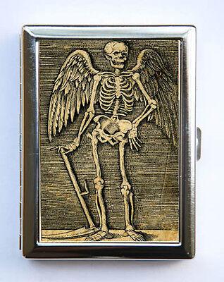 Skeleton Angel Cigarette Case Wallet Business Card Holder psychobilly gothic  ()