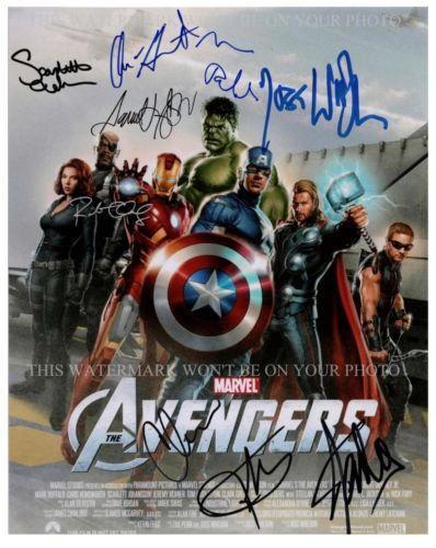 Avengers Cast Signed: Entertainment Memorabilia | eBay