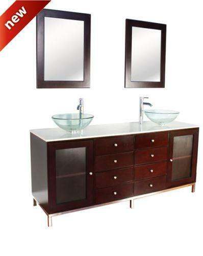Ebay Bathroom Vanity With Sink: Double Vessel Sink Vanity