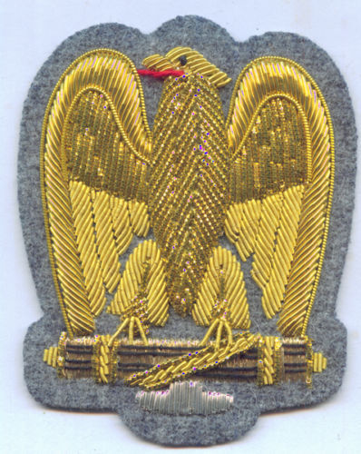 Italy Eagle Cap Badge Mussolini Fascist Army Officer General Battle Uniform War