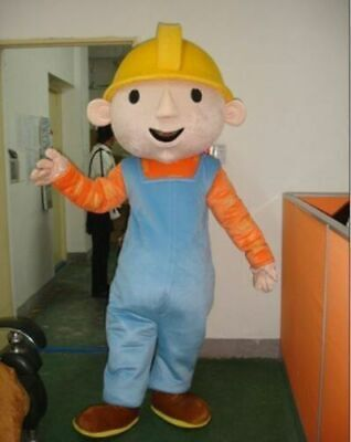 Bob The Builder Costume (Bob the builder Fancy Dress Mascot EPE Outfit Adult size Costume)