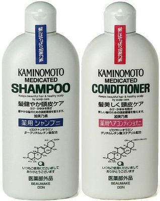New KAMINOMOTO Scalp Medicated Shampoo & Conditioner Set  B&P 300mLx2 from Japan