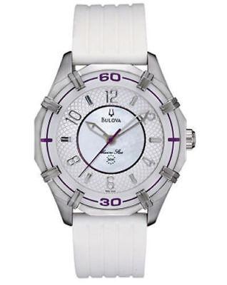 Bulova Marine Star Women's 96L144 Solano Quartz Purple Accents 36mm Watch