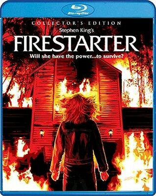 Firestarter New Sealed Blu Ray Collectors Edition Drew Barrymore Stephen King