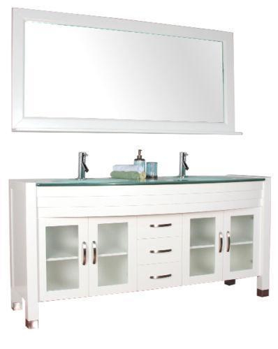Ebay Bathroom Vanity With Sink: Modern Bathroom Double Vanity