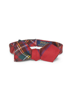BOW TIE RALPH LAUREN MEN TARTAN PLAID MADE IN ITALY