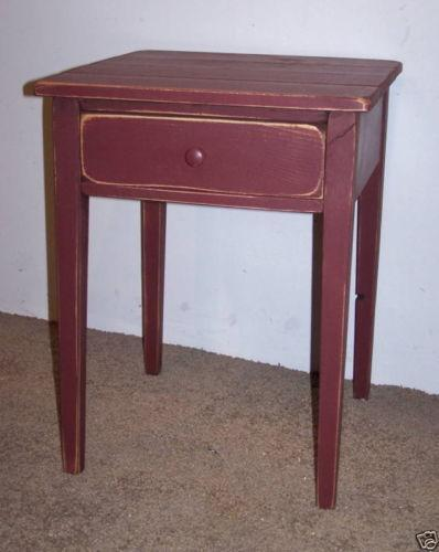 Coffee table home collections furniture tables bedford coffee table - Primitive End Table Ebay