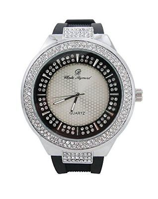 Best Hip Hop Watch with Carefully Crafted Double Dial Iced Out Look - 8623