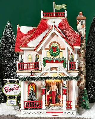 BARBIE BOUTIQUE LIGHTED CHRISTMAS SNOW VILLAGE HOUSE DEPT 56 LEMAX HEARTLAND