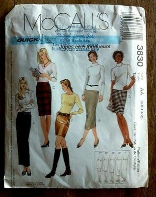 McCall's Quick & Easy Skirt Sewing Pattern style 3830 craft sew DIY fabric women (Diy Easy Crafts)