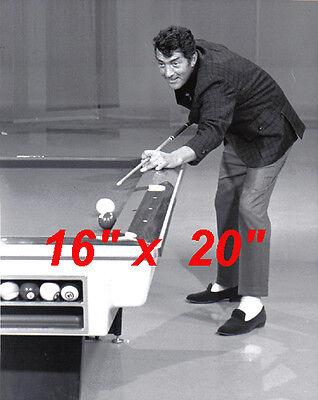 "Dean Martin~Playing Pool~Pool Hall~Billiards~Shooting Pool~16"" x 20"" Photo"