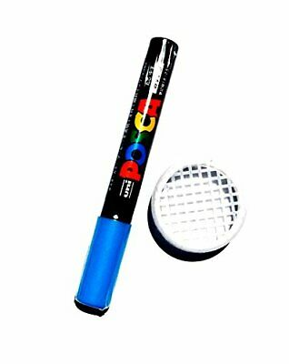 Posca Queen Bee Blue Color Marking Pen Non-toxic Pc5m Push In Queen Cage