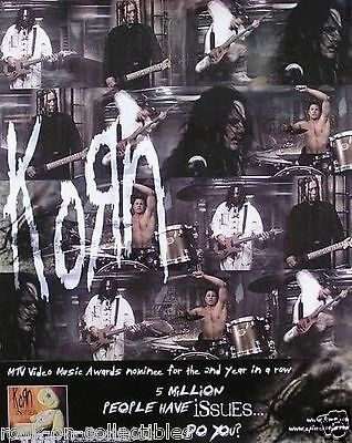 Korn 2000 Issues Original Promo Poster