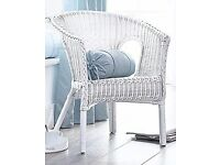 *New* White Wicker Chair