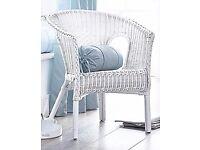 *New* White Wicker Chair