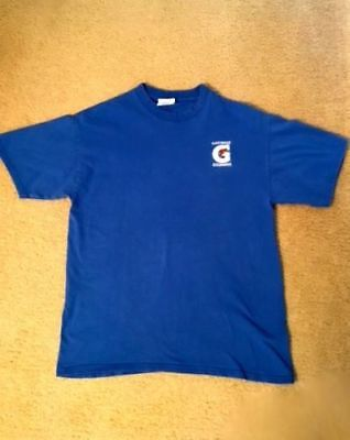GATORADE G ORANGE LIGHTING BOLT Mens Adult Blue Medium Tee / T-Shirt NEW
