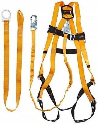 Miller Titan Full Body Harness Lanyard Fall Safety Protection W6ft Lanyard