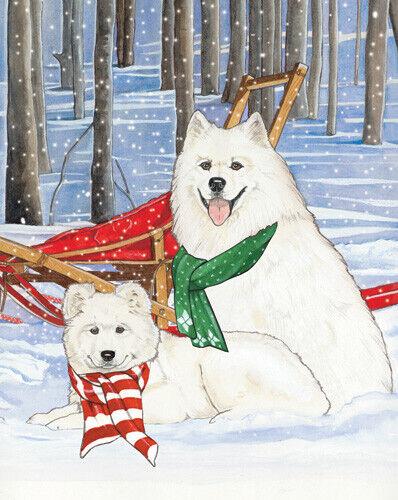 Samoyed Christmas Cards Set of 10 cards & 10 envelopes