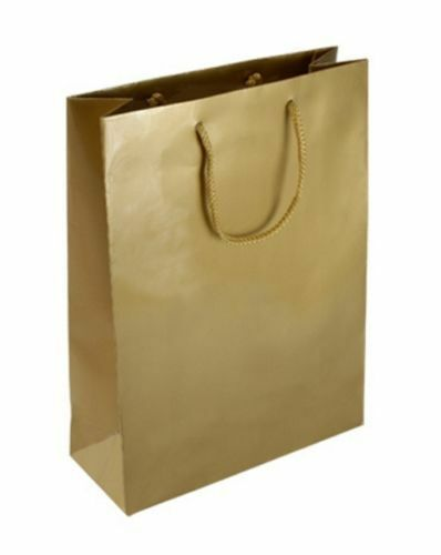 Wine Bag KRAFTZ/® Gold Christmas Xmas Party Matte Laminated 4 Luxury Gift Bags with Shiney Glossy Printed Design