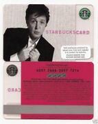 Paul McCartney Starbucks Card