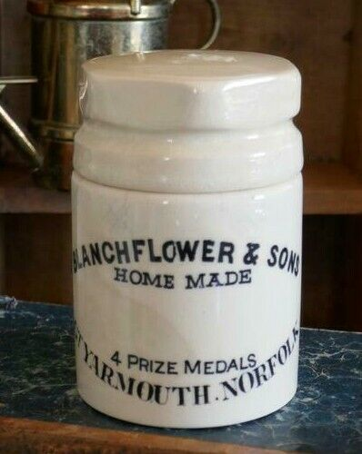 BLANCHFLOWER & SONS Yarmouth Norfolk Homemade Bloater Paste Crock with Lid