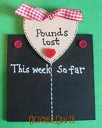 Weight Loss Chalk Board
