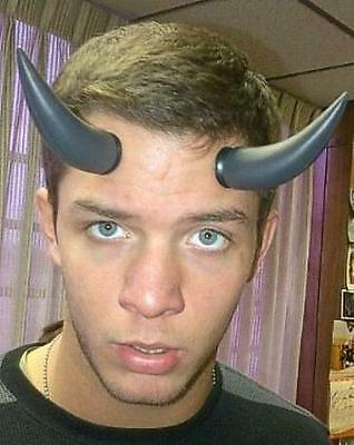 Black Plastic Devil Horns with Suction Cups - Plastic Devil Horns