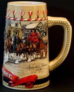vintage budweiser beer steins - Budweiser Christmas Steins