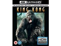 King Kong 4K Uhd+ Bluray+digital download, 3 disc set