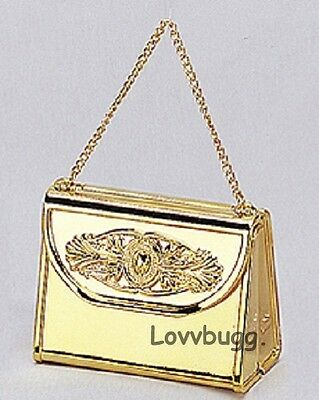 Gold Purse for American Girl or Wellie Wisher Doll Accessory