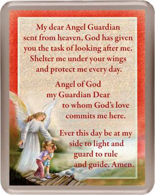 GUARDIAN ANGEL VERSE PRAYER INSPIRATIONAL RELIGIOUS LARGE FRIDGE MAGNET