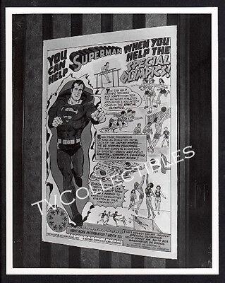 8x10 Photo~ DC Comics SUPERMAN ~Special Olympics Promo