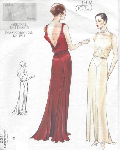 Vintage Vogue Dress Pattern Ebay