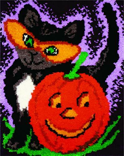 MCG Textiles Halloween Cat Latch Hook Kit