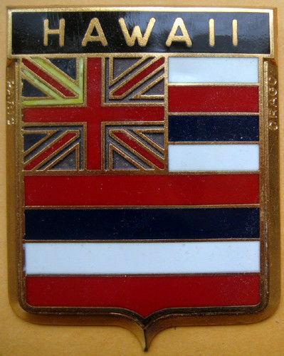 Badge auto car drago 1950s original Hawaii USA State American