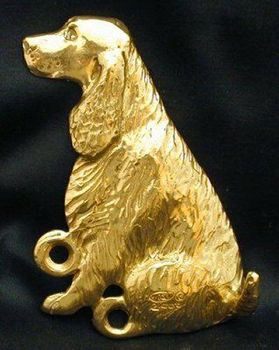 ENGLISH SPRINGER SPANIEL Hook in Bronze