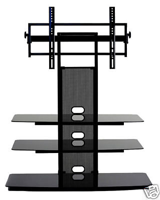 Audio Video Stands Mounts - TransDeco TV Stand with Mount Up to 65 Inch Entertainment Audio Video Console