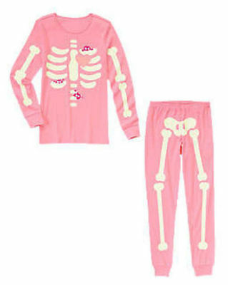 NEW Gymboree Halloween Costume Adult Women Mom Glow in Dark skeleton pajamas - Skeleton Pyjamas Adults