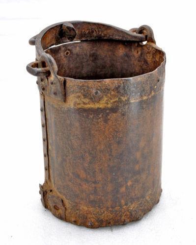 Antique well bucket ebay for Galvanized well bucket