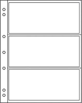 20 Prophila Banknoten-Hüllen für je 3 Banknoten klar