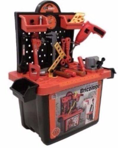 Kids Toy 50 piece tool set in storage box/working drill