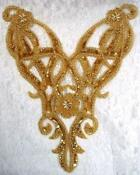 Gold Sequin Beaded Applique