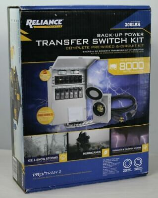 Reliance - Model 306lrk - 6-circuit Back Up Power Transfer Switch Kit New