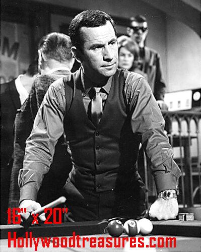 "Don Adams~Playing Pool~Get Smart Star~Billiards~Shooting Pool~16"" x 20"" Photo"